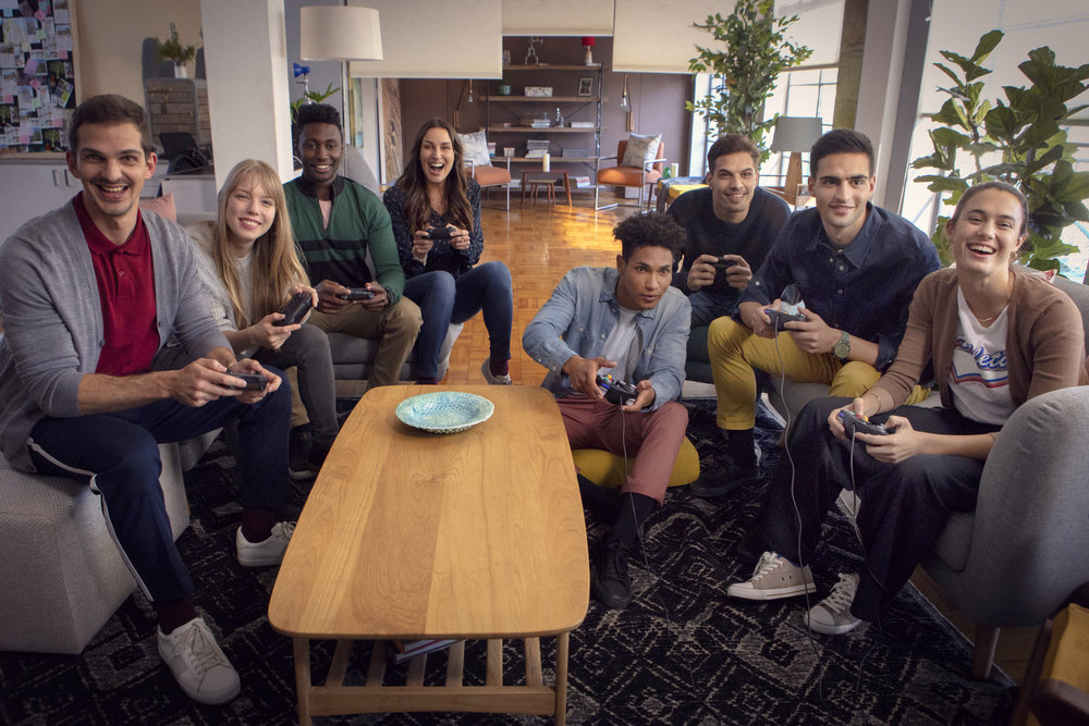 Switch it up, speel met acht spelers.